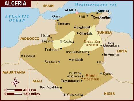 map of algeria cities map of algeria