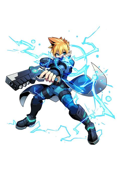 merak gunvolt first details on azure striker gunvolt