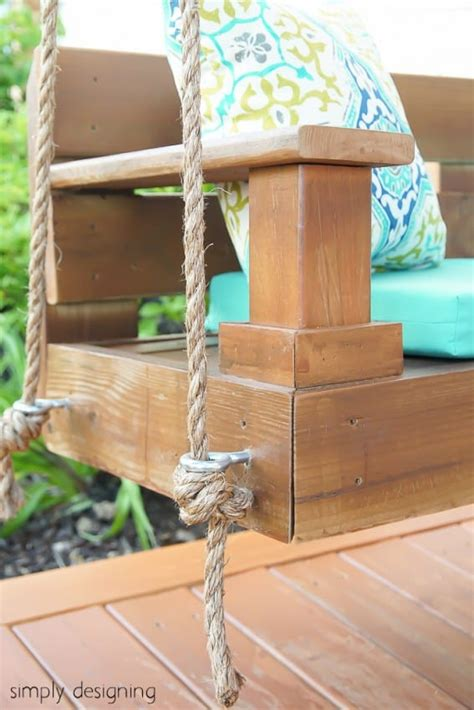 how to hang a bench swing from a tree build a porch swing