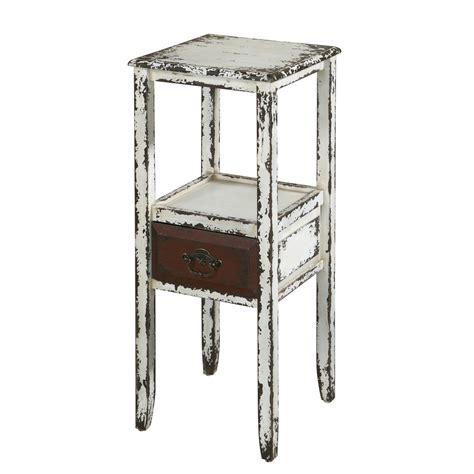 powell parcel white 1 drawer accent table beyond stores
