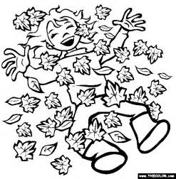 falling leaves coloring autumn leaves coloring pictures images