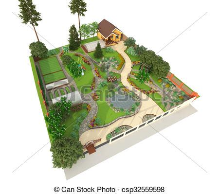 landscape layout en français landscape design 3d landscape design in 3d isolated on a
