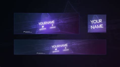 free gfx free 2d twitter header youtube banner template