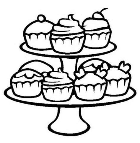 coloring pages of cute cupcakes cupcake coloring pages kids cute coloring pages cupcake