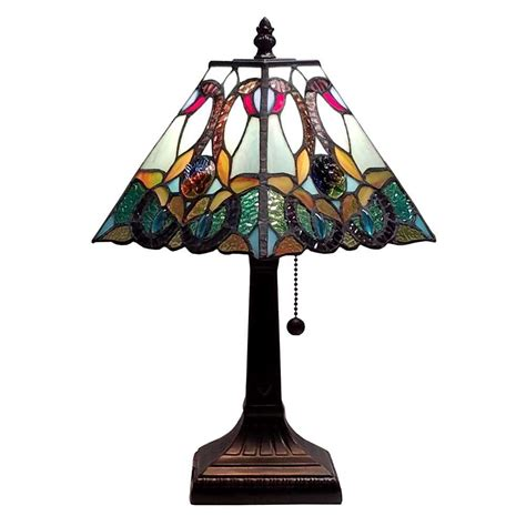amora lighting tiffany l amora lighting 15 in multicolored tiffany style floral