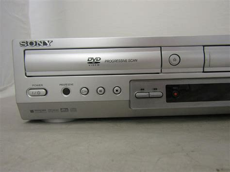 cassette vhs in dvd sony dvd player vcr vhs cassette recorder model slv