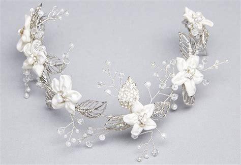 Wedding Hair Accessories Cork by Bridal Jewellery Ireland Azure Handmade Pearl Wedding