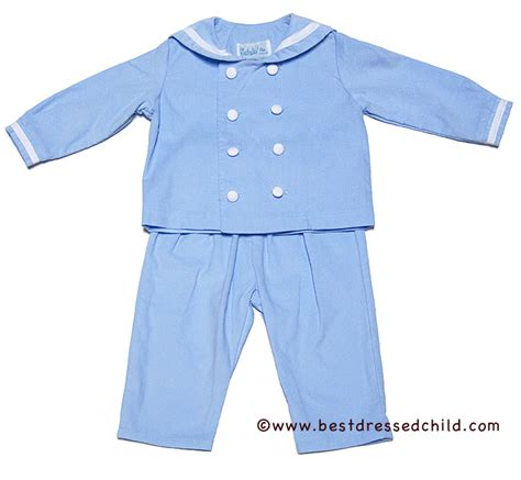 boys light blue suit funtasia boys light blue corduroy sailor suit pants set