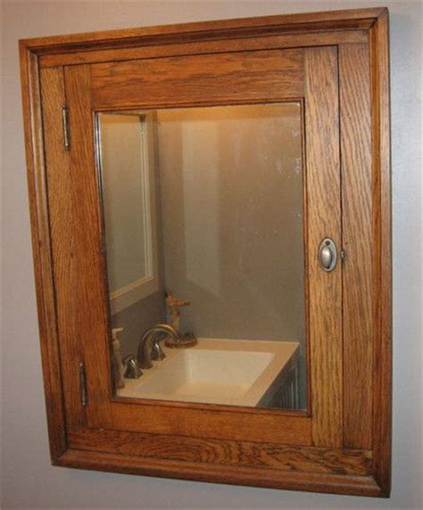 Built In Cupboards With Mirror Antique Mission Style Arts And Crafts Built In Medicine