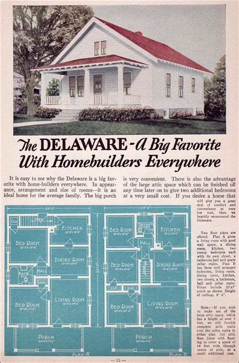 One Bedroom House Plans 1935 bungalow style liberty homes by lewis mfg the delaware