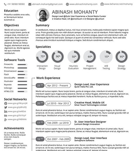 Resume Format Vector 10 New Fashion Resume Cv Templates For Free 365 Web Resources