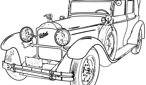 coloring pictures of vintage cars antique car coloring pages coloring home