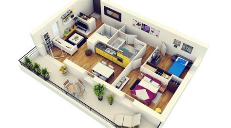 plan appartement 2 chambres 50 plans 3d d appartement avec 2 chambres