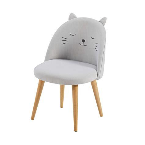 chaises enfant chaise enfant gris clair 224 motifs cats maisons du monde