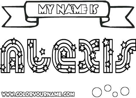 Free Coloring Pages Of Name Alexis In Graffiti Graffiti Coloring Pages Names