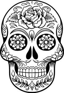 sugar skull coloring coloring page of sugar skull to print for grown ups