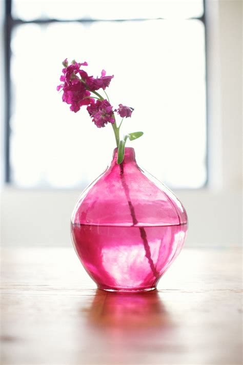 pink flowers in pink vase