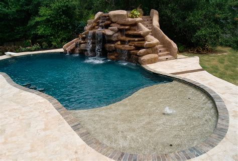 pool designs with slides swimming pools with slides and waterfalls houston pool