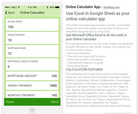 Spreadsheet Calculator App by Make A Calculator App Or Page Using Sheets Ibuildapp