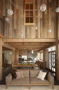 Wood Interior Homes Reclaimed Barn Wood Walls Pra Que Criatividade Se Eu Posso Roubar Ideias Dos Outros No