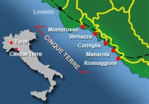 Cinque Terre Italy Map by Italy Cinque Terre