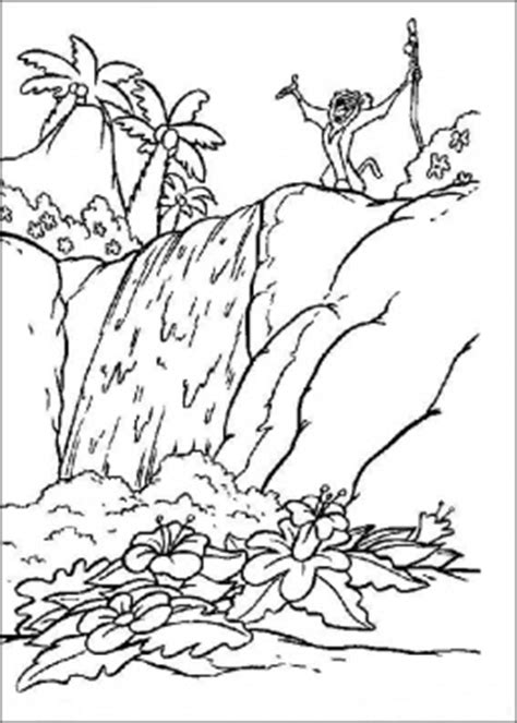 coloring page waterfall coloring pages for kids waterfall coloring pages for kids