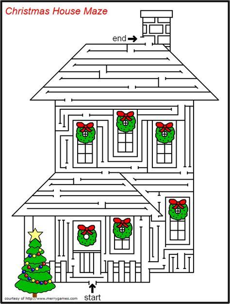 free printable christmas maze games free printable christmas mazes merry games christmas