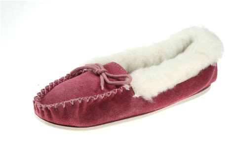 slippers made in uk poppy made in pink suede leather fleece