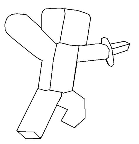 minecraft character drawing template anime coloring pages sketch coloring page