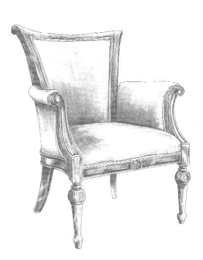 pencil sketches of chairs chair sketch betty jean collection bespoke chair