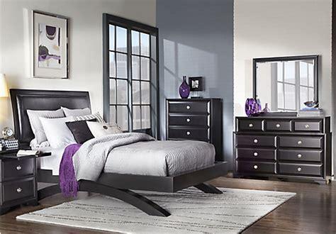 belcourt black 5 pc queen sleigh bedroom queen bedroom sets black belcourt black 5 pc queen platform bedroom contemporary
