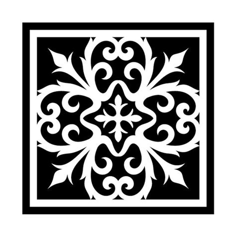 pattern tile stencils stencils stencil designs and tile on pinterest
