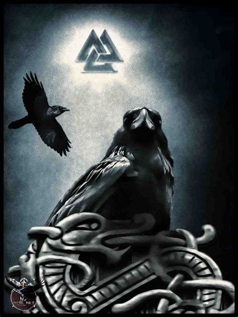 norse raven tattoo odin s fury by thecasperart on deviantart ravens