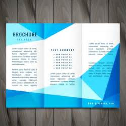 modern trifold brochure design vector free download