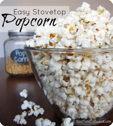 Handmade Popcorn - easy stovetop popcorn with coconut real