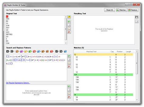 test regular expression regex edit professional regular expressions design and