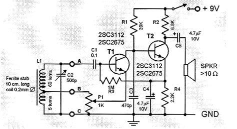 fm radio receiver circuit diagram pdf two transistor am radio receiver circuit