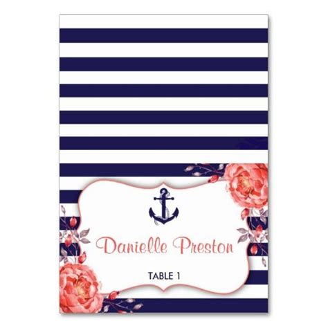 Nautical Card Template by 31 Best Nautical Navy Blue And Coral Stripe Wedding