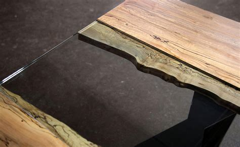 woodworking colorado colorado live edge maple and glass dining table sentient
