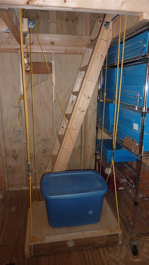 elevator    storage shed  steps