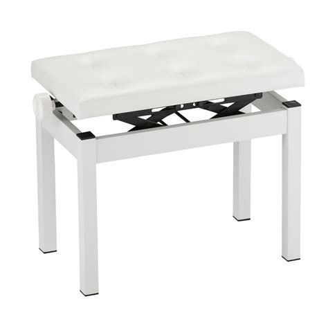 piano bench white korg pc 770 piano bench white at gear4music com