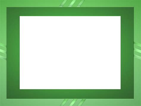 Green Frame Backgrounds Border Frames Green Templates Free Ppt Backgrounds And Powerpoint Powerpoint Border Templates