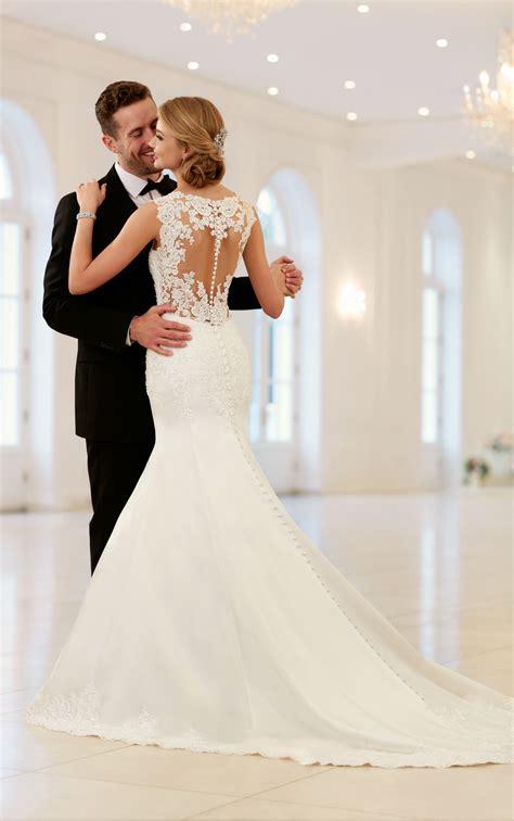 wedding dresses elegant sparkling fit  flare gown