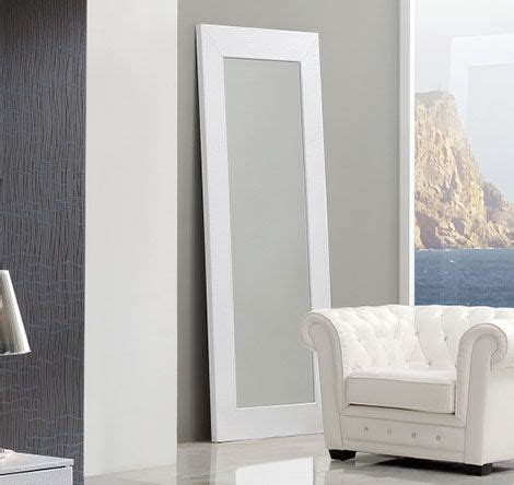 coco spain made standing floor mirror in white crocodile leather prime classic design modern