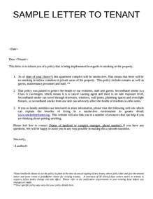 Sle Letter From Landlord To Tenant sle landlord letters to tenants search engine at search