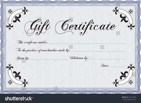 gift certificate template illustrator vector gift certificate template vector illustration stock