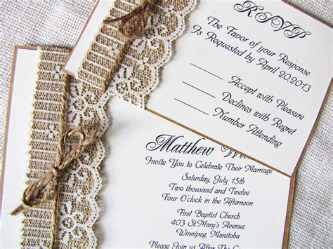 Handmade Lace Wedding Invitations - rustic lace wedding invitations so ipunya