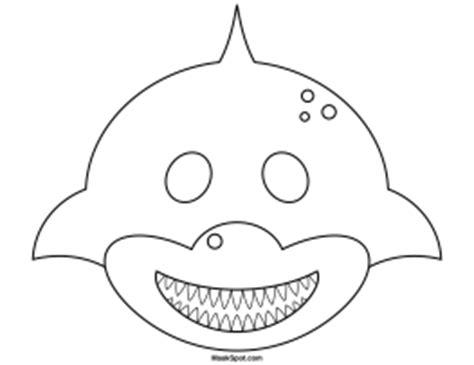 Printable Shark Mask Template   image gallery shark mask