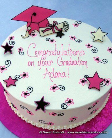 Congratulations Cake Decorating Ideas by Graduation Cake Graduation And Pink On