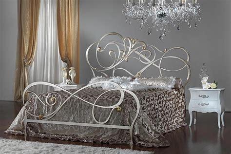letto argento letto in ferro decorazioni curvilinee per alberghi